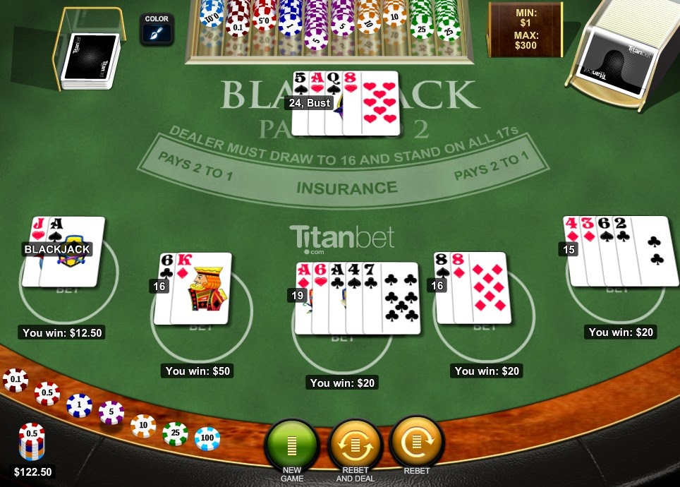 Titan Casino Blackjack Screen