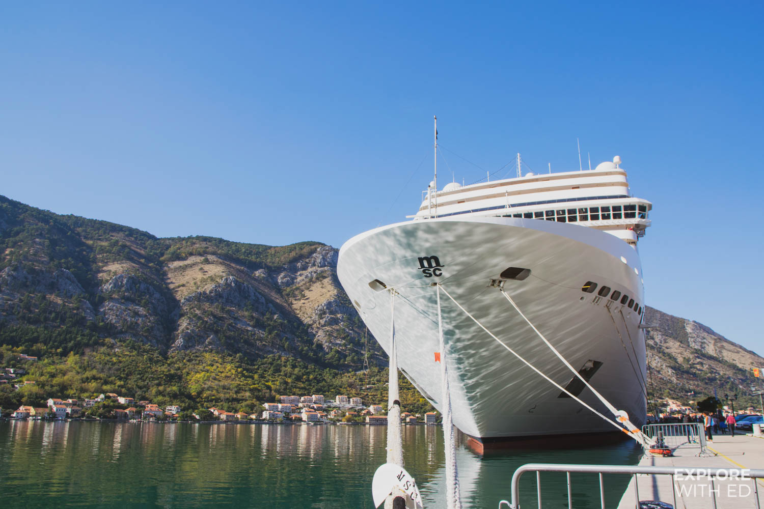 MSC Musica docked in Kotor, Montenegro