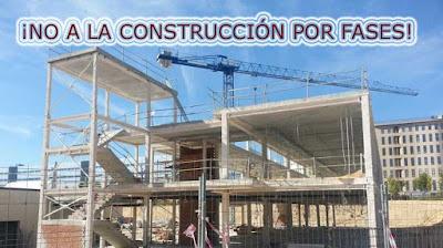 no a la construccion por fases de colegios en Madrid