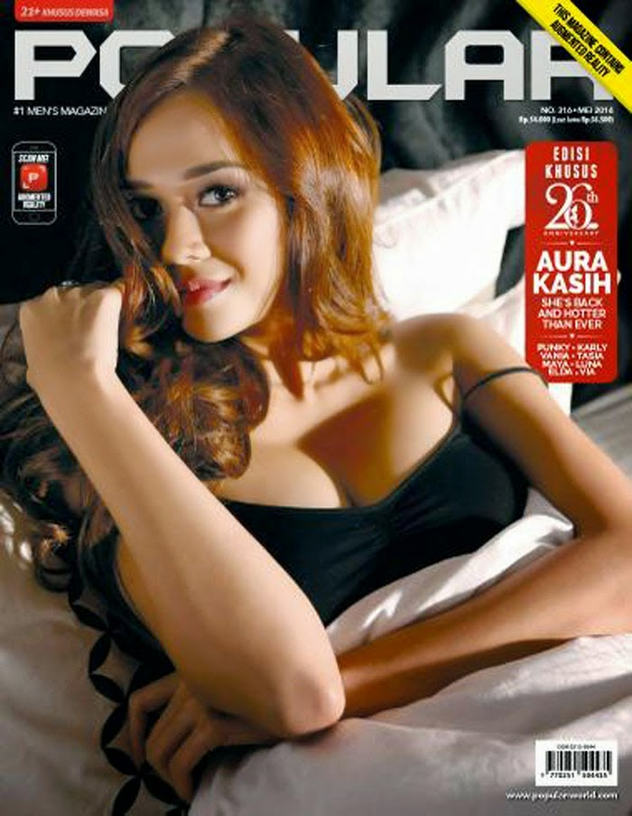 Aura Kasih on Cover for Popular World Magazine May 2014