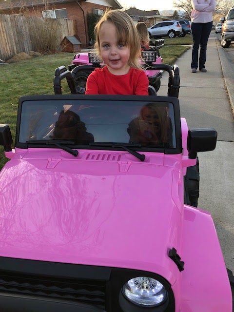 Pink Jeeps for toddlers