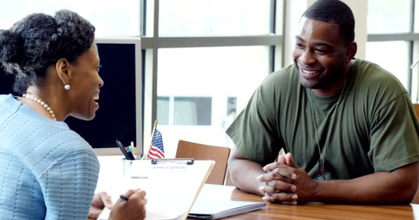 African American entrepreneur helping with a business loan