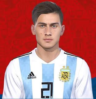 PES 2018 Faces Paulo Dybala by Messi Pradeep