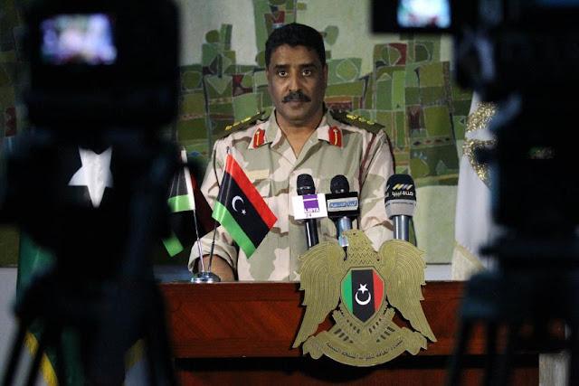 O porta-voz do exército líbio, o coronel Ahmed al-Mesmari, revelou na quarta-feira documentos que mostram a interferência do Catar na Líbia