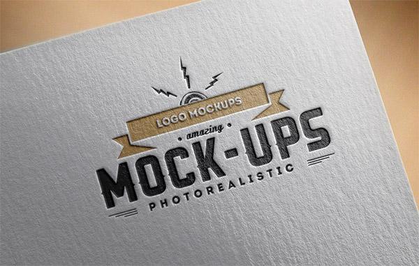 Download Logo Mockup PSD Terbaru Gratis - Paper Edition Logo Mockup