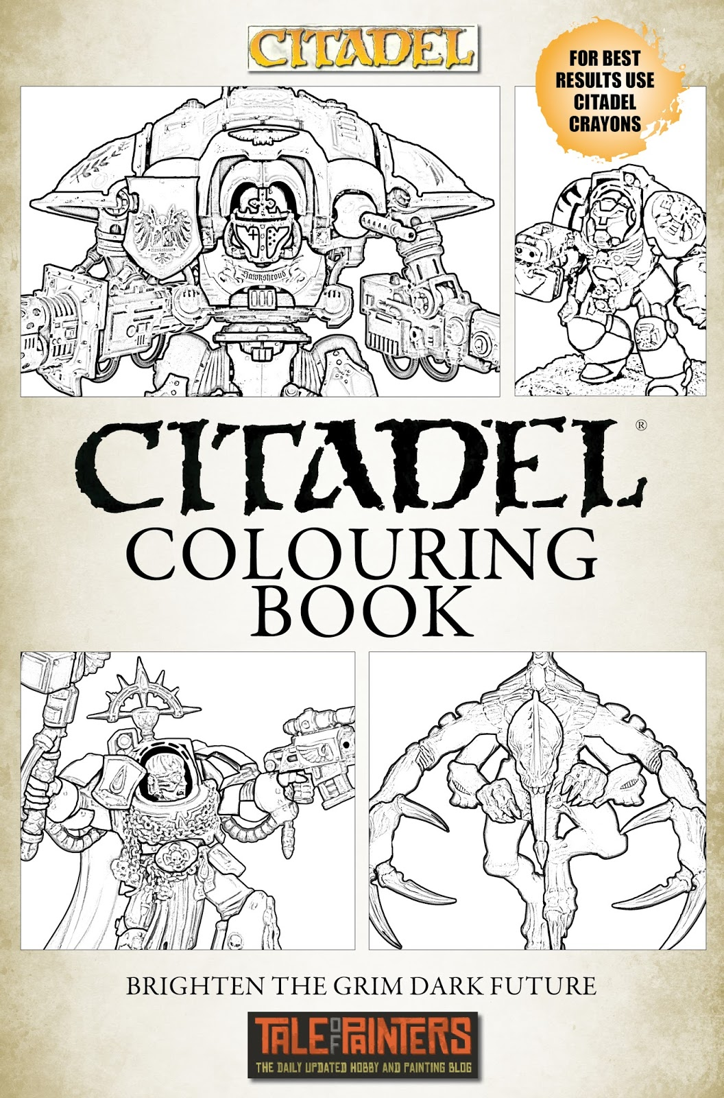 Rumour: Citadel Colouring Book Leaked Cover - Tale of Painters
