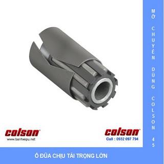 Bánh xe cao su có khóa chịu lực 304kg Colson phi 200 dùng ổ đũa | 4-8199-459BRK1