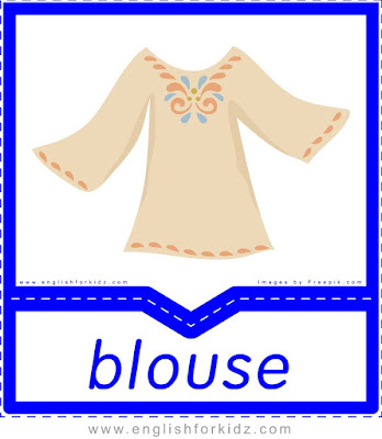 Blouse - clothes flashcards