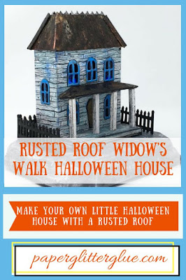 Instructions on how to make the Rusted Roof Widow's Walk Halloween house