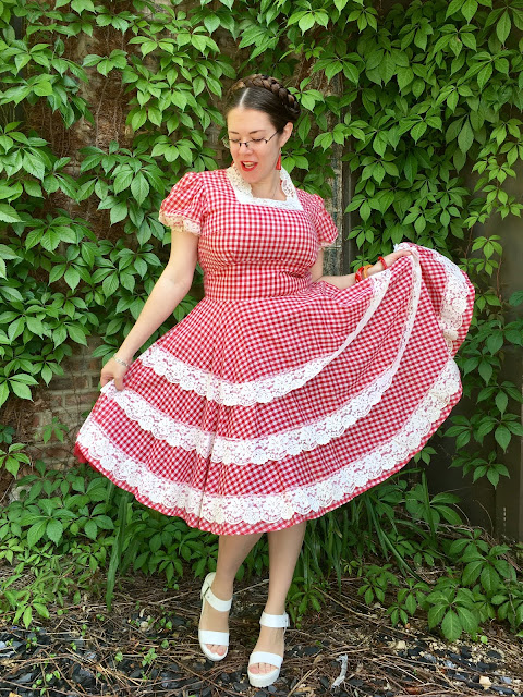 vintage garage chicago red gingham dress