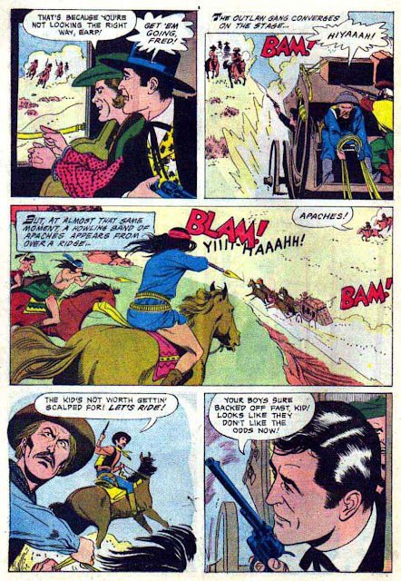 Wyatt Earp v2 #12 - Russ Manning dell western 1960s silver age comic book page art