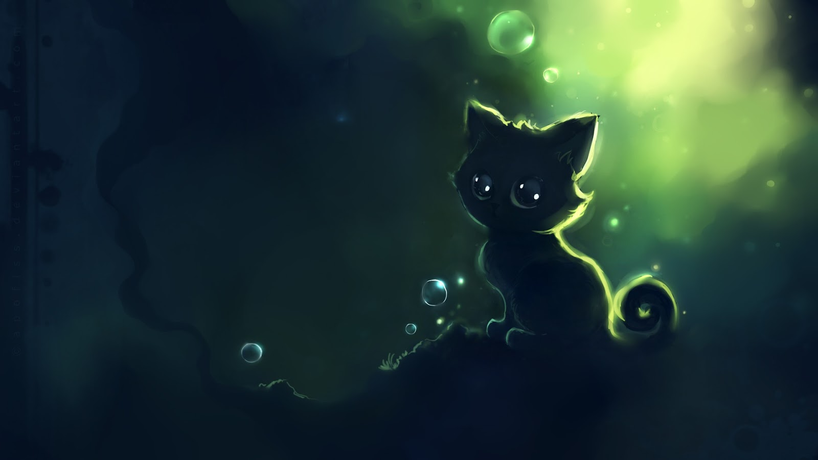 Happy Fall Wallpapers Green Cat Mystery Wallpaper