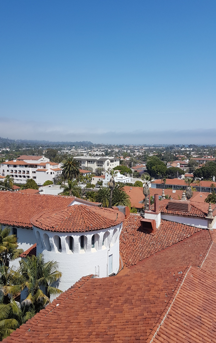 Santa barbara view from bell tower
