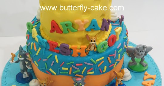 Butterfly Cake Tom And Jerry Cake For Aryan Ganesh Gopal