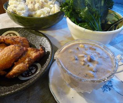Quick Chicken Gravy with Incidental Chicken Fingers