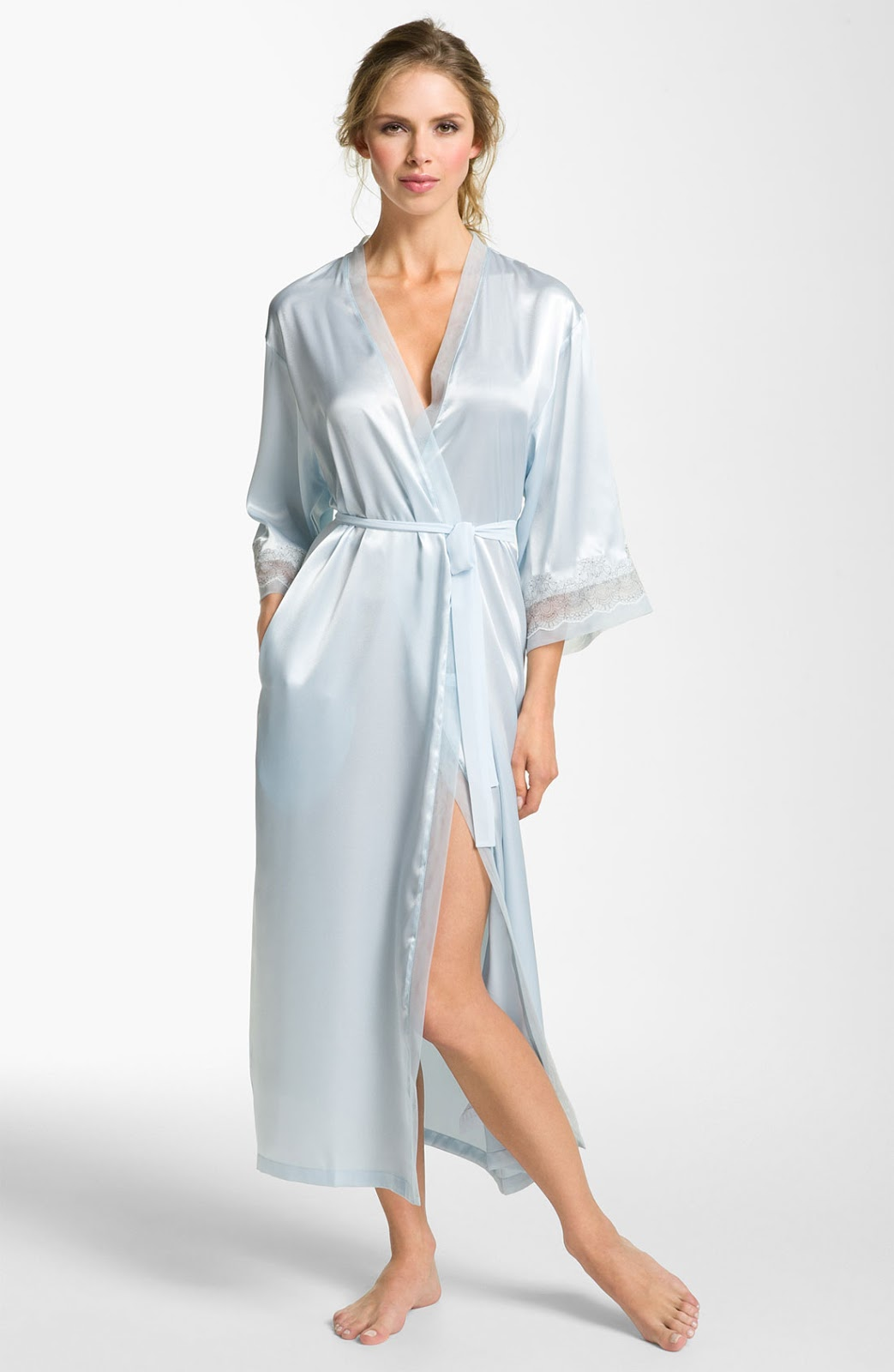 Silk Satin Dress Silk Satin Fetish Nightwear Dress-8378