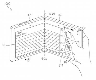 Smartphone Layar Lipat 3 Samsung Segera Hadir, Ini Penampakkan Patennya