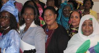 Après que la fermeture de ces travaux de la Conférence des femmes africaines ¨Promover il participation politique des femmes dans les postes de decision