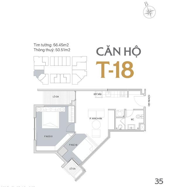 Thiết kế chi tiết căn hộ E1-18 dự án D'el Dorado phú thượng