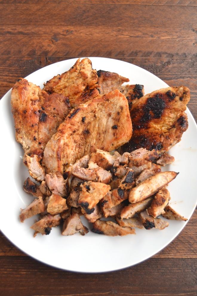 Sauteed pork sirloin