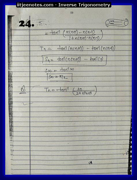 inverse trigonometry cbse notes