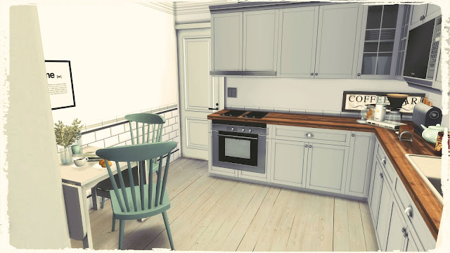 Sims 4 - Small Nordic Kitchen Room  Mods For Download -1969