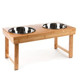 Top Paw Elevated Table Dog Feeder