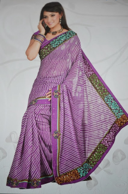 New Leheriya Sarees with Zari work