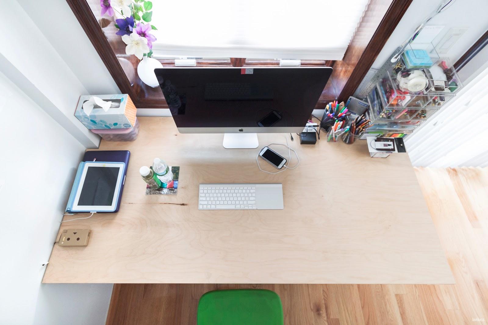 lavlilacs Custom Hairpin Desk above