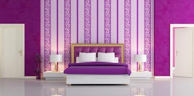 Desain Kamar Tidur Bernuansa Ungu Terbaru 2016