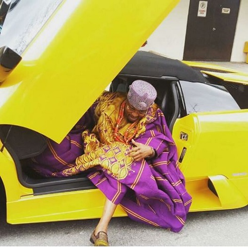 Osun Monarch, Oluwo Flaunts His New Bought Lamborghini Murcielago In Canada