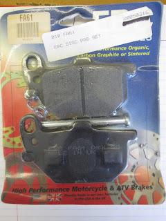 NOS EBC Brake Pads Set w/ Pin & Spring Yamaha XS1100 XJ650 XV920 XS850 FA61