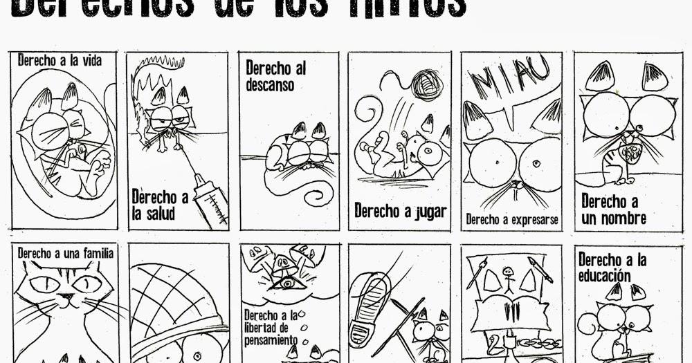 NiÑos Y Deberes Para Colorear: Pinto Dibujos: Derechos De Los Niños Para Colorear