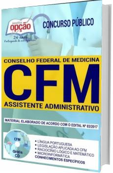 Apostila Concurso CFM-DF 2018 Assistente Administrativo