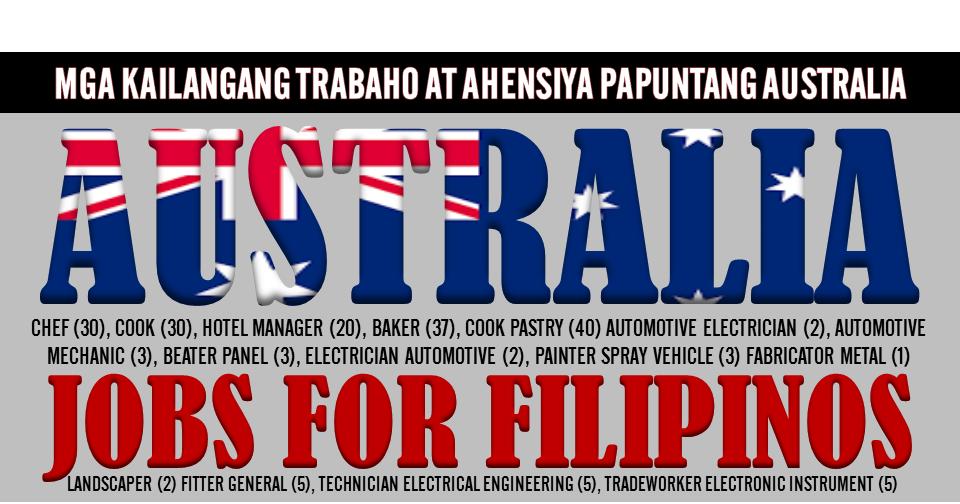 Jobs In Australia For Filipino Information and Ideas - Herz Intakt