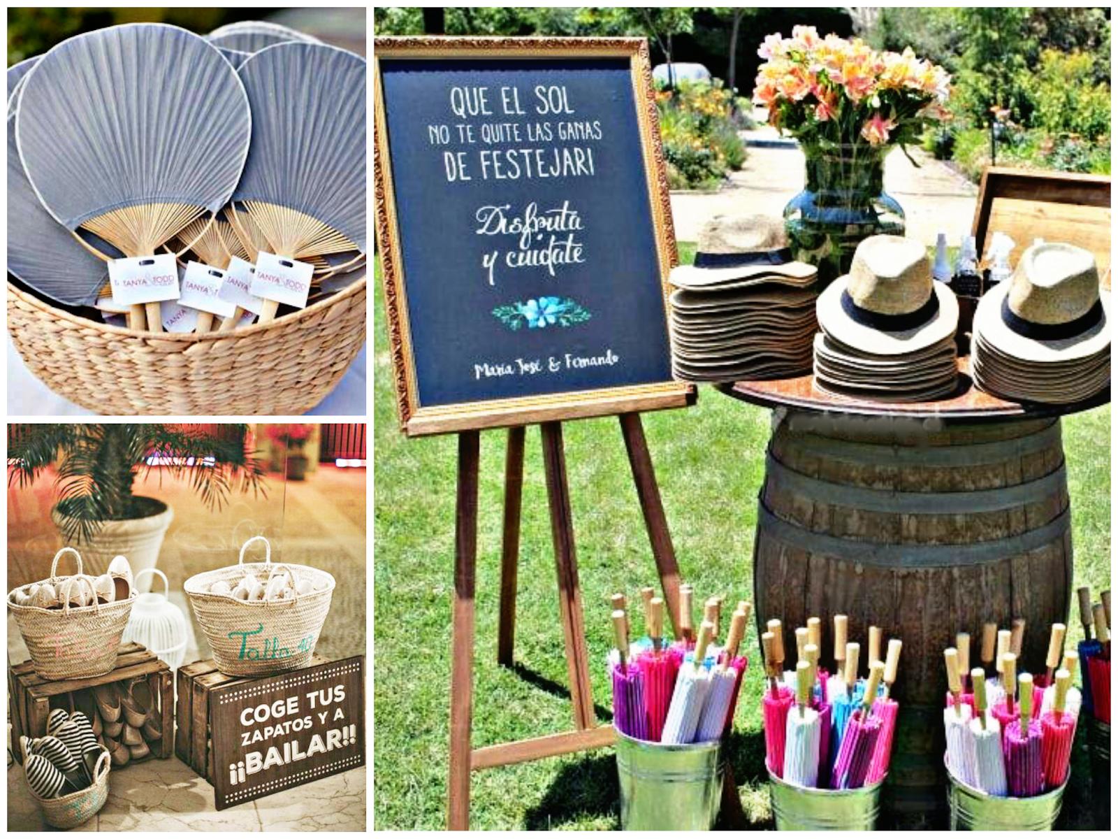 Detalles de boda campestres o molonas para invitados