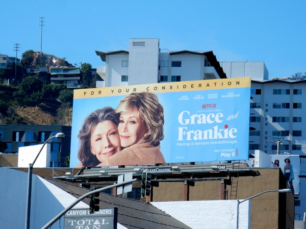 Grace and Frankie season 2 Netflix billboard