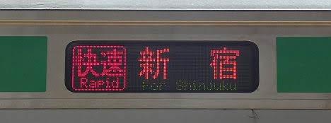 湘南新宿ライン 快速 新宿行き1 E231系(2018年 渋谷駅高架化工事に伴う運行)