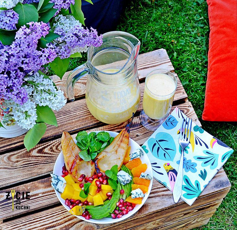 salatka do grilla, majowka, przyjecie w ogrodzie, salatka owocowa, salatka z gruszka, salatka z awokado, deska do serow, my gift dna, zycie od kuchni