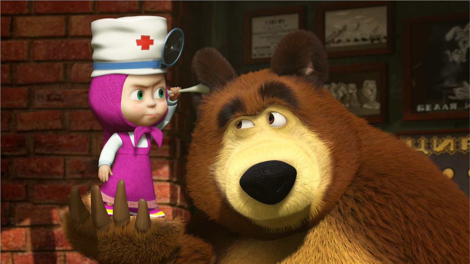 10 Wallpaper Atau DP BBM Masha And The Bear HD Khusus Android 2015