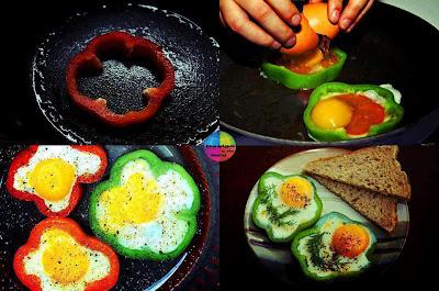 Idea para hacer huevos fritos con formas