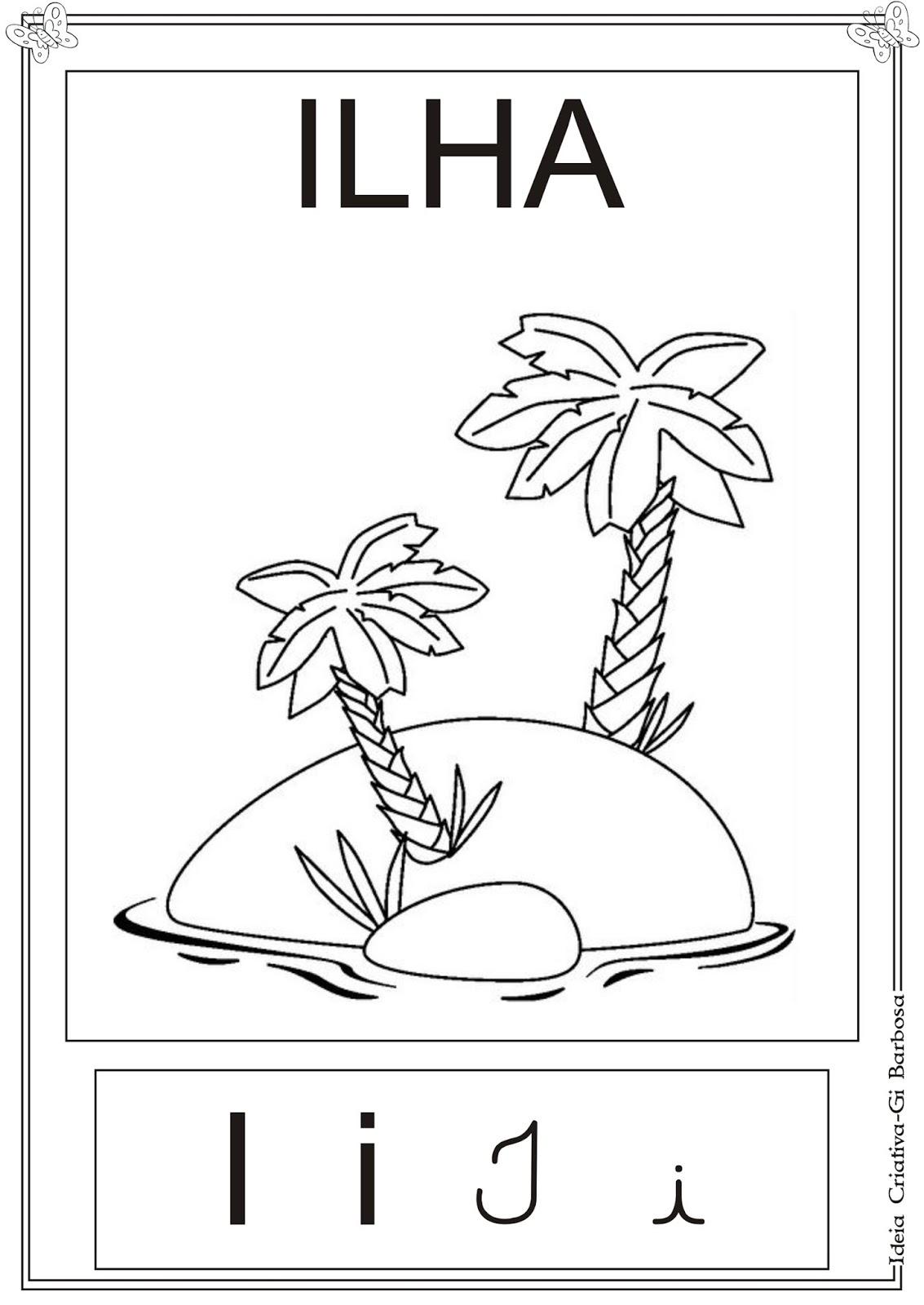 Cartazes Vogais Ilustradas Pra Colorir
