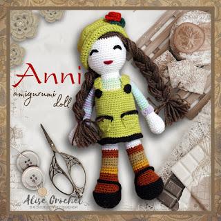 Anni - amigurumi doll кукла вязаная крючком
