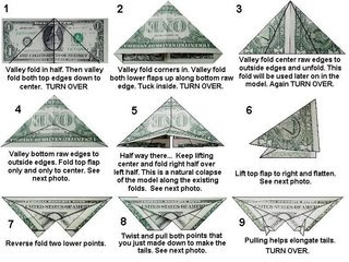 T Shirt With Tie Dollar Origami