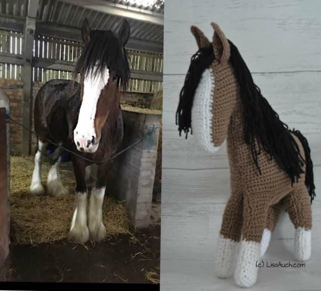 Heidi the Horse Free Amigurumi Pattern | Jess Huff | 580x640
