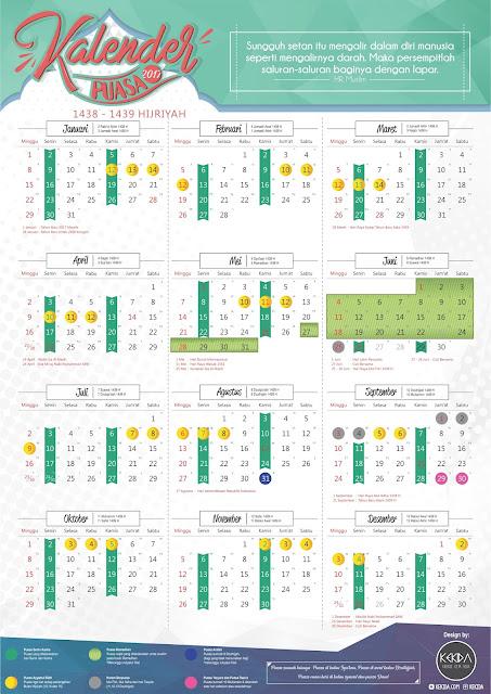 Kalender Puasa 2017