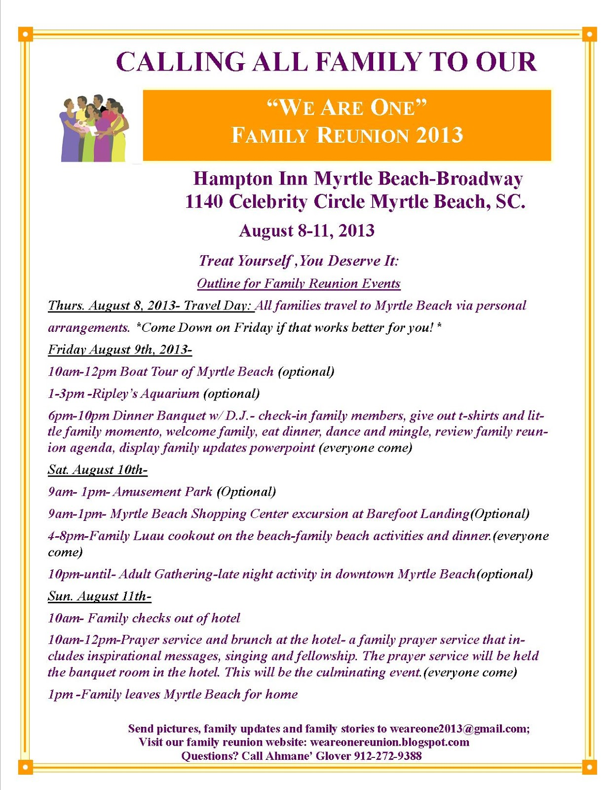 Family Reunion Itinerary Template Pictures to Pin – Banquet Agenda Template