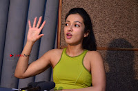 Actress Catherine Tresa Pos during Self Dubbing for Gautham Nanda Movie  0006.JPG