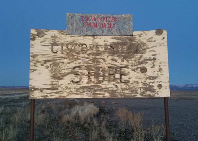 Cisco Utah ghost town sign
